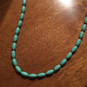 Jewelry - Charleston Rice Bead Turquoise necklace